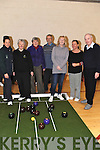 OPEN DAY: Members of the Kenmare Bowling club held an Open Day on December 6th, at their bowling venue in the GAA complex, and pictured here are Sue Eccles, Maeve Arnold, Vera and Allen Shaw, Margaret McSweeney, Cora Carrigg (Kerry Recreation Sports) and Aiden McCabe.
