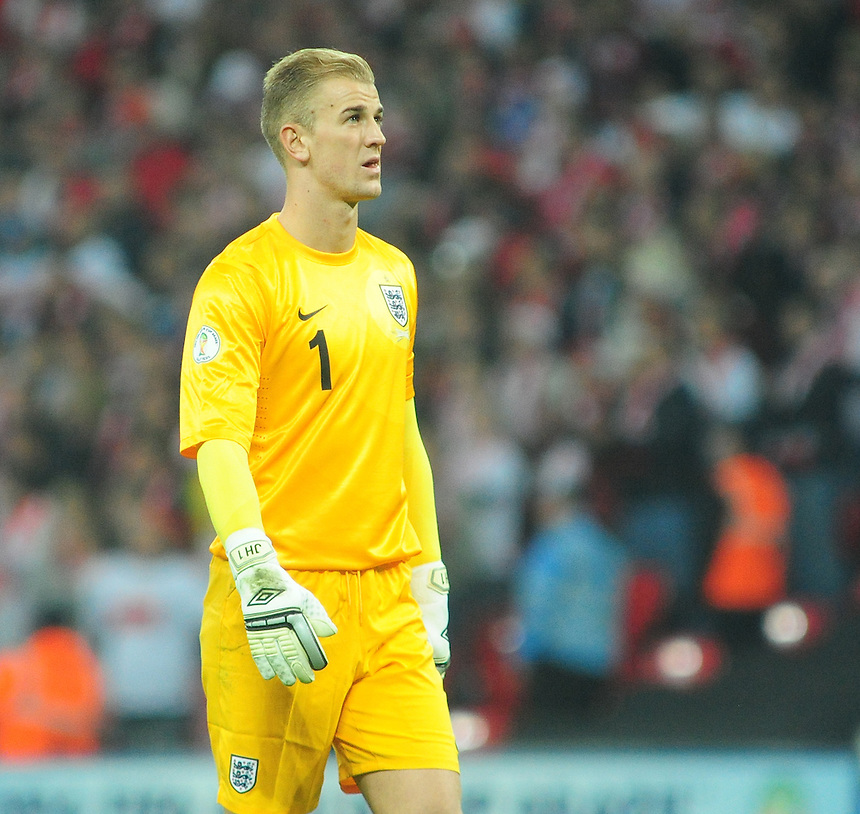 England's Joe Hart <br /> <br /> Photo by Chris Vaughan/CameraSport<br /> <br /> International Football 2014 World Cup Euro Qualifying Group H - England v Poland - Tuesday 15th October 2013 - Wembley Stadium - London<br /> <br /> &copy; CameraSport - 43 Linden Ave. Countesthorpe. Leicester. England. LE8 5PG - Tel: +44 (0) 116 277 4147 - admin@camerasport.com - www.camerasport.com