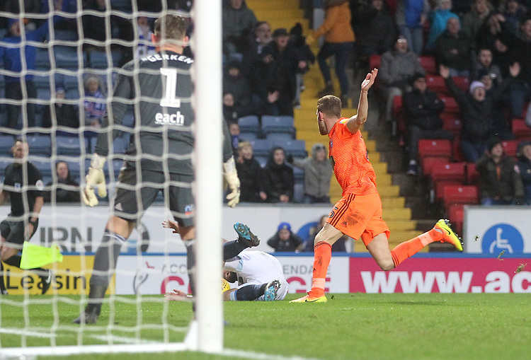 Blackburn Rovers Adam Armstrong wins a penalty<br /> <br /> Photographer Mick Walker/CameraSport<br /> <br /> The EFL Sky Bet Championship - Blackburn Rovers v Ipswich Town - Saturday 19 January 2019 - Ewood Park - Blackburn<br /> <br /> World Copyright © 2019 CameraSport. All rights reserved. 43 Linden Ave. Countesthorpe. Leicester. England. LE8 5PG - Tel: +44 (0) 116 277 4147 - admin@camerasport.com - www.camerasport.com