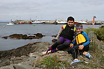 Luke and Daniel Reilly at the Green Buoy 1KM Swim in Clogherhead....(Photo credit should read Jenny Matthews/NEWSFILE)...