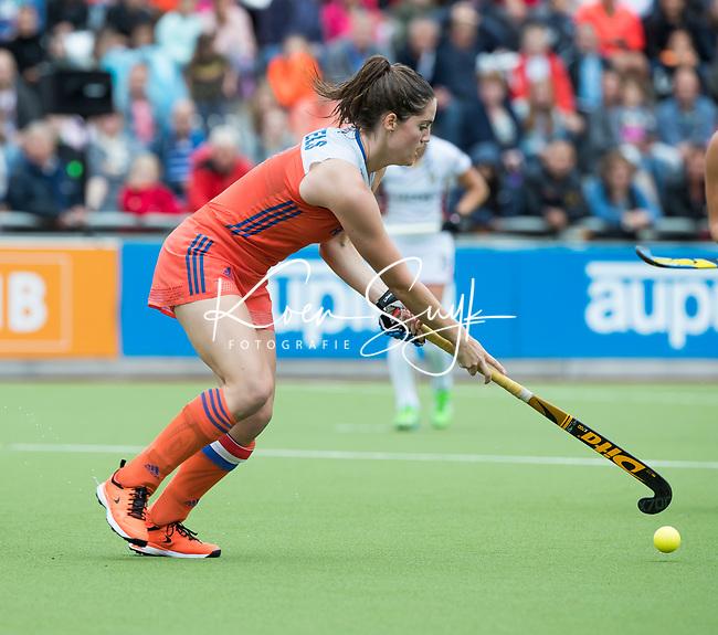 SCHIEDAM - Marloes Keetels (Ned)  tijdens een oefenwedstrijd tussen  de dames van Nederland en Belgie , in aanloop naar het  EK Hockey, eind augustus in Amstelveen. COPYRIGHT KOEN SUYK