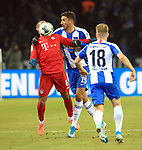 19.01.2020, OLympiastadion, Berlin, GER, DFL, 1.FBL, Hertha BSC VS. Bayern Muenchen, <br /> DFL  regulations prohibit any use of photographs as image sequences and/or quasi-video<br /> im Bild Marko Grujic (Hertha BSC Berlin #15), Santiago Ascacibar (Hertha BSC Berlin #18),<br /> Thiago Alcantara (FC Bayern Muenchen #6)<br /> <br />       <br /> Foto © nordphoto / Engler