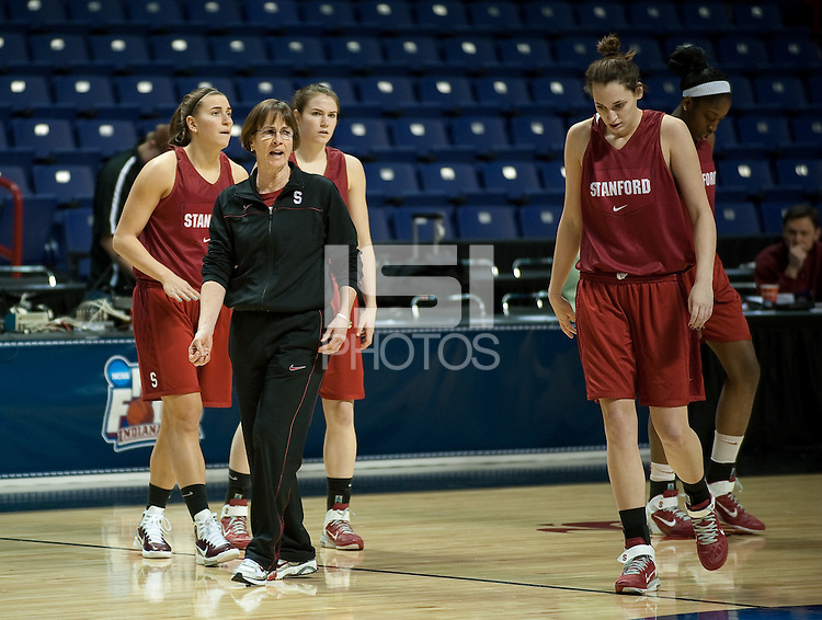 SPOKANE, WA - MARCH 27, 2011: Head Coach Tara VanDerveer during the off-day pratice session, Stanford Women's Basketball, NCAA West Regionals on March 27, 2011.