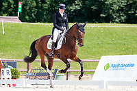 BEL-Karin Donckers rides Cunta Z during the CIC3* ERM Dressage. 2017 FRA-Haras de Jardy International Eventing Show. Versailles, France. Saturdy 15 July. Copyright Photo: Libby Law Photography