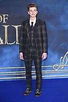 LONDON, UK. November 13, 2018: Joshua Shea at the &quot;Fantastic Beasts: The Crimes of Grindelwald&quot; premiere, Leicester Square, London.<br /> Picture: Steve Vas/Featureflash