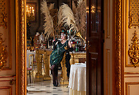 BNPS.co.uk (01202 558833)<br /> Pic: PhilYeomans/BNPS<br /> <br /> Let's Misbehave - A fascinating insight into the heady world of the upper classes in the roaring twenties has opened at Blenheim Palace.<br /> <br /> The 9th Duke of Marlborough and his second wife, American intellectual Gladys Deacon, were lavish hosts at the baroque Oxfordshire Palace.<br /> <br /> Their frequent house parties in a time of great social, artistic and political change were attended by friends as diverse as Winston Churchill, Edith Sitwell, Jacob Epstein and Bloomsbury set founders Lytton Strachey and Virginia Woolf.<br /> <br /> The exhibition showcases their lavish lifestyles in a series of scenes within the Palaces elegant State Rooms.<br /> <br /> Actors portraying the leading characters interact with the visiting public to give a flavour of the famously decadent decade.