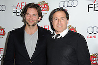 LOS ANGELES, CA - NOVEMBER 2: Bradley Cooper and David O. Russell at the official screening for 'Silver Linings Playbook' during AFI  Fest 2012 at the Rigler Theatre at The Egyptian in Los Angeles, California. November 2, 2012. Photo by MediaPunch Inc. .<br />