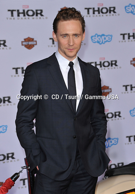 Tom Hiddleston at the Thor: The Dark World' premiere at the El Capitan theatre in Los Angeles.