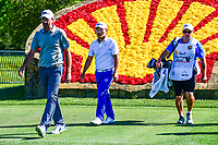 Geoff Ogilvy (AUS) and Sung Kang (USA) walk to the 18th tee  during round 1 of the Shell Houston Open, Golf Club of Houston, Houston, Texas, USA. 3/30/2017.<br /> Picture: Golffile | Ken Murray<br /> <br /> <br /> All photo usage must carry mandatory copyright credit (&copy; Golffile | Ken Murray)