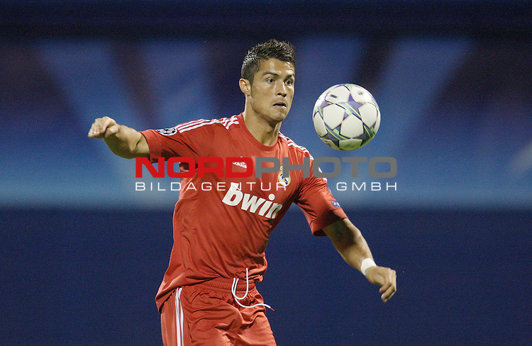 14.09.2011., Maksimir stadium, Zagreb, Croatia - Football match GNK Dinamo Zagreb - Real Madrid CF, UEFA Champions League, Group D. Cristiano Ronaldo.<br />                                                                                                    Foto &copy;  nph / PIXSELL *** Local Caption ***