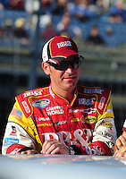 Nov. 15, 2008; Homestead, FL, USA; NASCAR Nationwide Series driver Clint Bowyer prior to the Ford 300 at Homestead Miami Speedway. Mandatory Credit: Mark J. Rebilas-