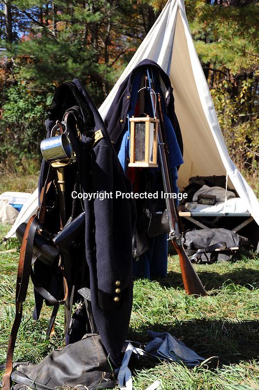 Civil War Reenactment Union Army Campsite