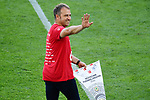 """Deutscher Meister 2020, FC Bayern Muenchen, Trainer Hans-Dieter """"Hansi"""" Flick<br /> Wolfsburg, 27.06.2020: nph00001: , Fussball Bundesliga, VfL Wolfsburg - FC Bayern Muenchen 0:4<br /> Foto: Tim Groothuis/Witters/Pool//via nordphoto<br />  DFL REGULATIONS PROHIBIT ANY USE OF PHOTOGRAPHS AS IMAGE SEQUENCES AND OR QUASI VIDEO<br /> EDITORIAL USE ONLY<br /> NATIONAL AND INTERNATIONAL NEWS AGENCIES OUT"""
