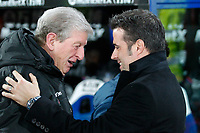 Watford Manager Marco Silva with Crystal Palace Manager Roy Hodgson ahead of the Premier League match between Crystal Palace and Watford at Selhurst Park, London, England on 13 December 2017. Photo by Carlton Myrie / PRiME Media Images.