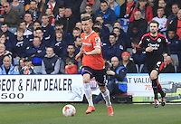 Dan Potts of Luton Town in action during the Sky Bet League 2 match between Luton Town and Crawley Town at Kenilworth Road, Luton, England on 12 March 2016. Photo by Liam Smith.