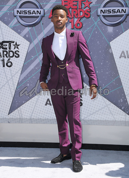 26 June 2016 - Los Angeles. Algee Smith. Arrivals for the 2016 BET Awards held at the Microsoft Theater. Photo Credit: Birdie Thompson/AdMedia