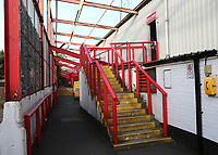 General view behind the New Road Stand on Brentford's last ever match at Griffin Park. The game was played behind closed doors due to the Coronavirus Pandemic during Brentford vs Swansea City, Sky Bet EFL Championship Play-Off Semi-Final 2nd Leg Football at Griffin Park on 29th July 2020