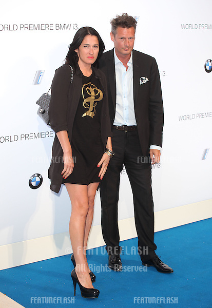 PPQ designers, Percy Parker and Amy Molyneaux arriving for the BMW i3 Launch Party, at Old Billingsgate, London. 29/07/2013 Picture by: Alexandra Glen / Featureflash