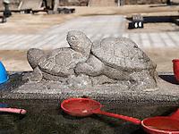 Brunnen, buddhistischer Hwaeomsa Tempel in Jirisan Nationalpark, Provinz Jeollanam-do, Südkorea, Asien<br /> well in buddhist Hwaeomsa temple in Jirisan national park, province Jeollanam-do, South Korea, Asia
