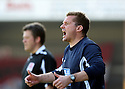 Stevenage manager Graham Westley shouts instructons during the Blue Square Premier match between Kidderminster Harriers and Stevenage Borough at the Aggborough Stadium, Kidderminster on Saturday 17th April, 2010..© Kevin Coleman 2010