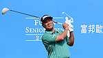 TAIPEI, TAIWAN - NOVEMBER 20:  Lu Chien Soon of Taiwan tees off on the 1st hole during day three of the Fubon Senior Open at Miramar Golf & Country Club on November 20, 2011 in Taipei, Taiwan. Photo by Victor Fraile / The Power of Sport Images