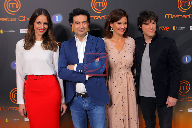 Presentacion MasterChef.<br /> Eva Gonzalez, Pepe Rodriguez Rey, Samantha Vallejo-Najera &amp; Jordi Cruz.