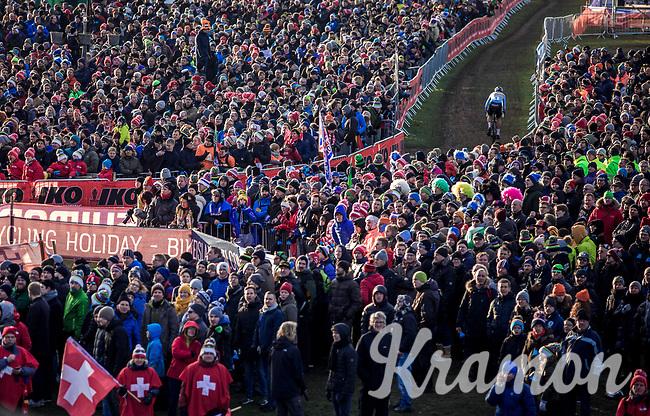 Wout Van Aert (BEL) <br /> <br /> Men's Elite race <br /> <br /> UCI 2019 Cyclocross World Championships<br /> Bogense / Denmark<br /> <br /> <br /> ©kramon