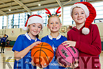 Enjoying the Tralee Imperials Christmas Basketball Marathon in Mercy Mounthawk on Saturday. Roisin Reidy, Abby Crowley, Ella O Sullivan enjoying the basketball blitz