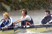 2005 Varsity Boat Race - Pre race fixtures - Putney, London., ENGLAND; left to right, 7. Gijs Vermeulen, 6. Sjoerd Hamburger, 5. Mark Flickinger, .Photo  Peter Spurrier. .email images@intersport-images...[Mandatory Credit Peter Spurrier/ Intersport Images] Varsity:Boat Race Rowing Course: River Thames, Championship course, Putney to Mortlake 4.25 Miles