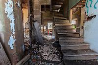 Ruins of old school in Mosheim, TX