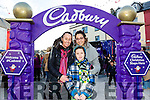 Enjoying the Fun when the Cadbury's Chocolate Truck came to the Square Tralee on Saturday were Patricia Malloy, Adrienne Malloy and Kayleigh Malloy, Tralee