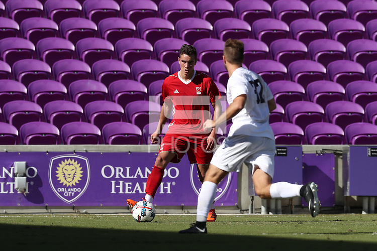 Orlando, Florida - Wednesday January 17, 2018: Xavier Gomez. Match Day 3 of the 2018 adidas MLS Player Combine was held Orlando City Stadium.