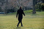 United States President Barack Obama walks out of the residence toward Marine One while departing the White House, on January 20, 2016 in Washington, DC. President Obama is traveling to Detroit, Michigan to visit the 2016 North American International Auto Show. <br /> Credit: Olivier Douliery / Pool via CNP