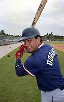 Boston Red Sox Luis Dorante during Spring Training in 1993.  (MJA/Four Seam Images)