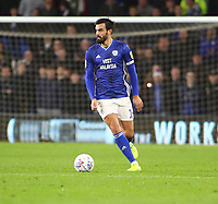 26th November 2019; Cardiff City Stadium, Cardiff, Glamorgan, Wales; English Championship Football, Cardiff City versus Stoke City; Marlon Pack of Cardiff City - Strictly Editorial Use Only. No use with unauthorized audio, video, data, fixture lists, club/league logos or 'live' services. Online in-match use limited to 120 images, no video emulation. No use in betting, games or single club/league/player publications
