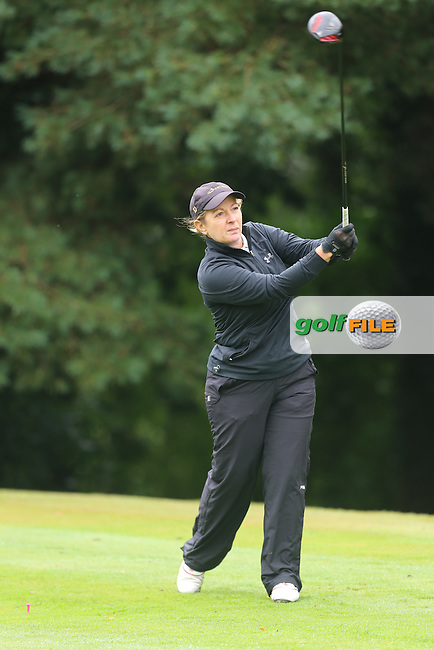 Debbie Sweeney (Mahee Island) during the Ulster Mixed Foursomes Final, Shandon Park Golf Club, Belfast. 19/08/2016<br /> <br /> Picture Jenny Matthews / Golffile.ie<br /> <br /> All photo usage must carry mandatory copyright credit (&copy; Golffile | Jenny Matthews)