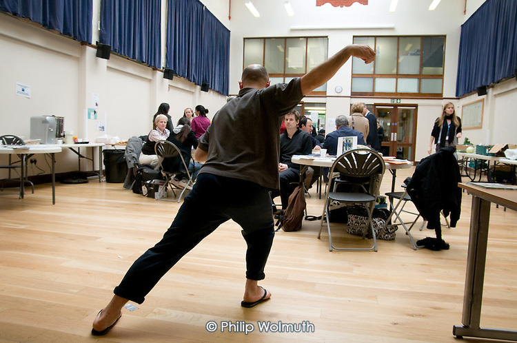 Tai Chi demonstration at a Healthy Futures event at the Beethoven Centre, Queens Park