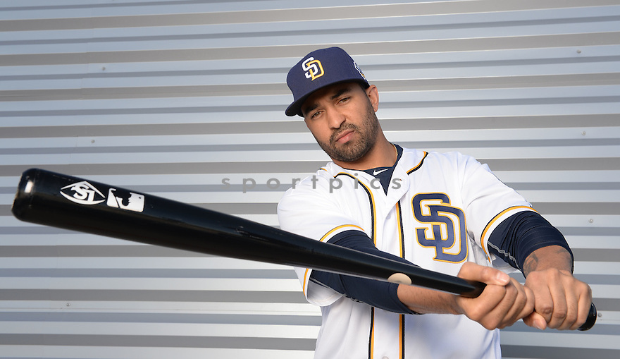 San Diego Padres Matt Kemp (27) during photo day on February 26, 2016 in Peoria, AZ.