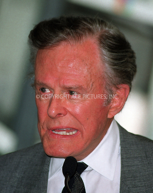 "WWW.ACEPIXS.COM..March 25 2010, CA..American TV actor Robert Culp, best known for his role as a secret agent with actor Bill Cosby  in the 1960s TV show""I Spy,"" died on Wednesday March 24 2010 following a fall near his home in Los Angeles. He was 79....Original caption:..Actor BILL COSBY's induction to NBC ""Walk fo Fame"" at NBC Experience Store on 49th Street in New York. May 3, 2002. Pictured here: actor Robert Culp. Please byline: ACE PICTURES, INC..ACE Pictures, Inc. 212 243 8787"