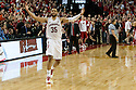 March 9, 2014: Walter Pitchford (35) of the Nebraska Cornhuskers celebrates the win over the Wisconsin Badgers at the Pinnacle Bank Arena, Lincoln, NE. Nebraska 77 Wisconsin 68.