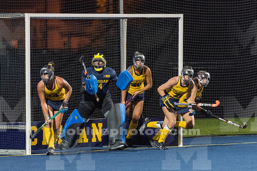 9/23/16 University of Michigan Women's Field Hockey team defeats Ohio State, 1-0 at Ocker Field, Ann Arbor, MI.