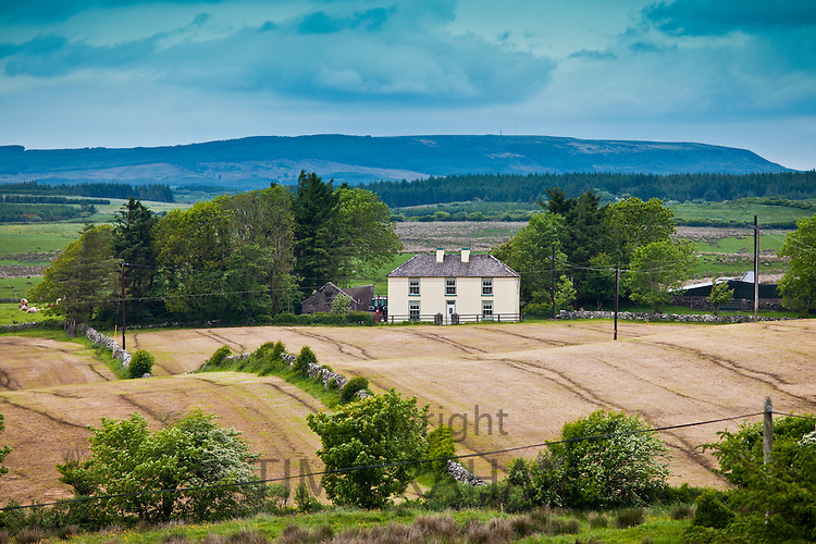 Traditional farmhouse in smallholding in County Clare, West of Ireland