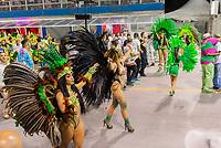 SÃO PAULO, SP, 09.03.2019 - CARNAVAL-SP - Integrante da escola de samba Barroca Zona Sul durante Desfile das campeãs do Carnaval de São Paulo, no Sambódromo do Anhembi em Sao Paulo, na madrugada desta segunda-feira.09 (Foto: Anderson Lira/Brazil Photo Press)