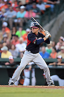 Atlanta Braves infielder Kelly Johnson (24) during a Spring Training game against the Baltimore Orioles on April 3, 2015 at Ed Smith Stadium in Sarasota, Florida.  Baltimore defeated Atlanta 3-2.  (Mike Janes/Four Seam Images)