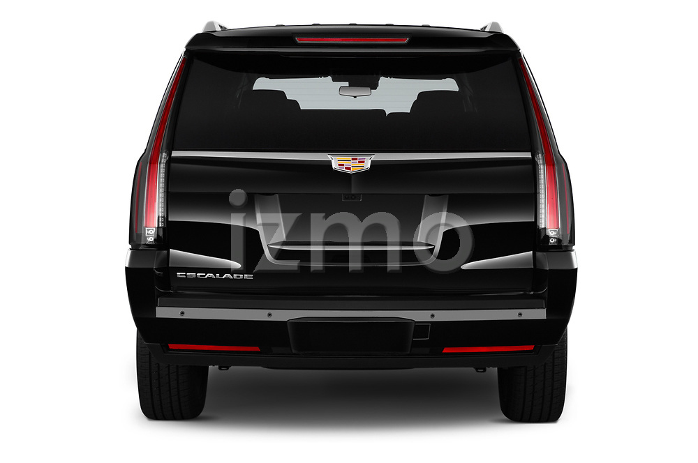 Straight rear view of 2020 Cadillac Escalade-ESV Premium-Luxury 5 Door SUV Rear View  stock images