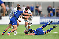 James Phillips of Bath Rugby takes on the Leinster Rugby defence. Pre-season friendly match, between Leinster Rugby and Bath Rugby on August 25, 2017 at Donnybrook Stadium in Dublin, Republic of Ireland. Photo by: Patrick Khachfe / Onside Images