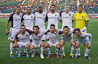 CARSON, CA - June 16, 2012: Real Salt Lake starting lineup for the Chivas USA match at the Home Depot Center in Carson, California. Final score Real Salt Lake 3, Chivas USA 0.