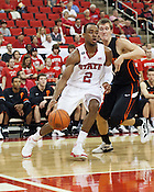 Lorenzo Brown, NC State University vs Princeton at the RBC Center, Raleigh, NC, Wednesday, November 16, 2011. .