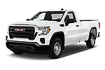 2019 GMC Sierra 1500 Base 2 Door Pick Up angular front stock photos of front three quarter view