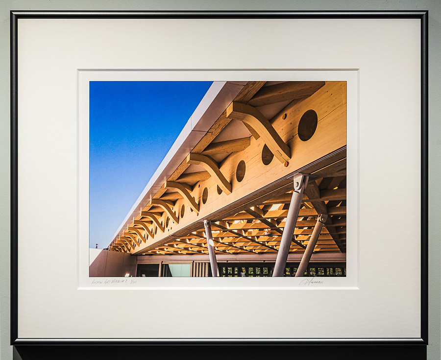"""Framed Size 16""""h x 20""""w, $335<br /> Graphite Nielsen 15 metal frame with 8-ply mat"""